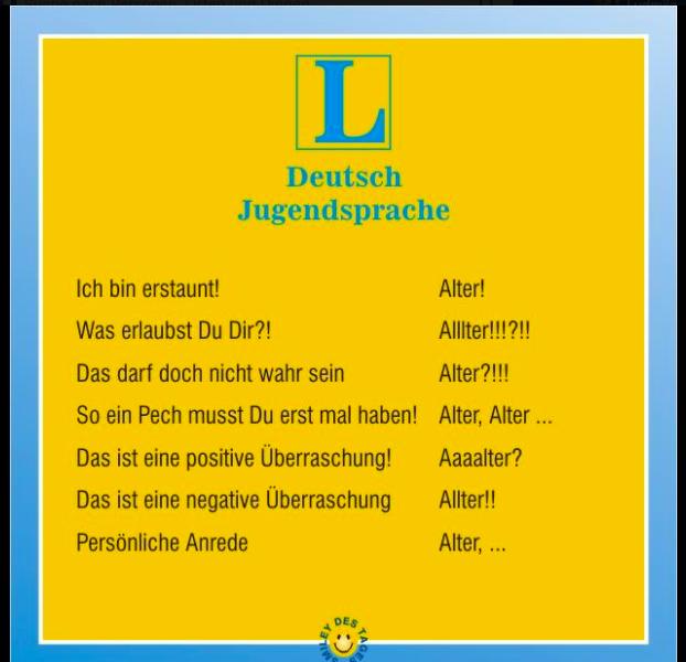 Arbeitsblätter Deutsch Jugendsprache : Jugendsprache deutsch germaniacs